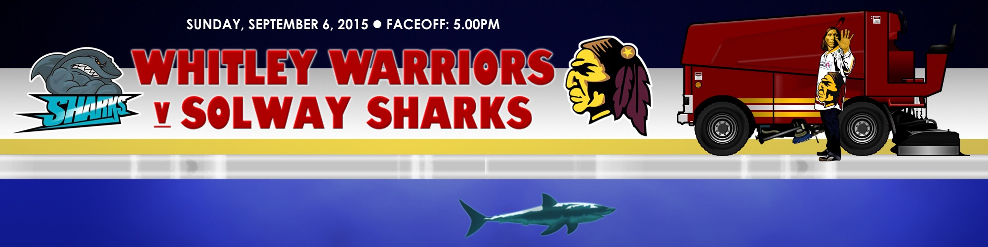 Whitley Warriors vs Solway Sharks - Sunday 6 September, face off 7pm
